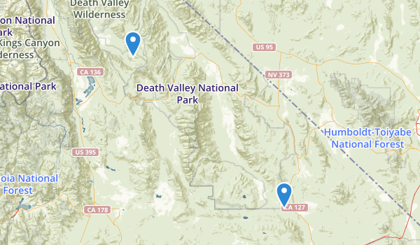 trail locations for Death Valley Wilderness