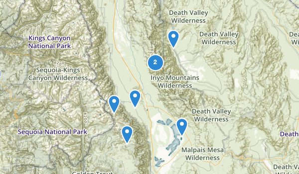 trail locations for Inyo Mountains Wilderness