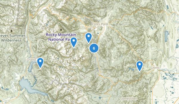 Rocky Mountain National Park Wilderness Map