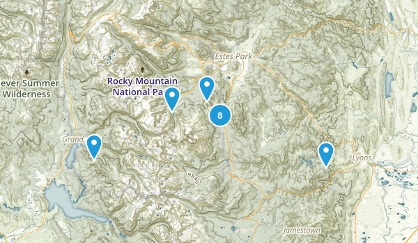 Rocky Mountain National Park Wilderness Map