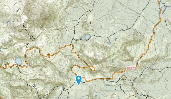Lassen Volcanic Wilderness Map