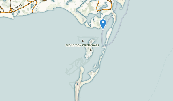 trail locations for Monomoy Wilderness