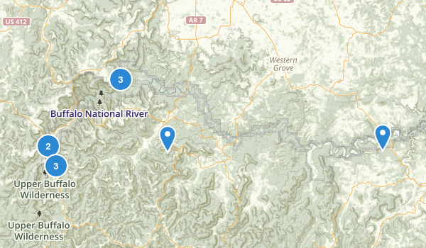 Buffalo National River Wilderness Map