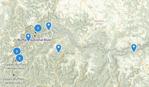 Buffalo National River Wilderness Map