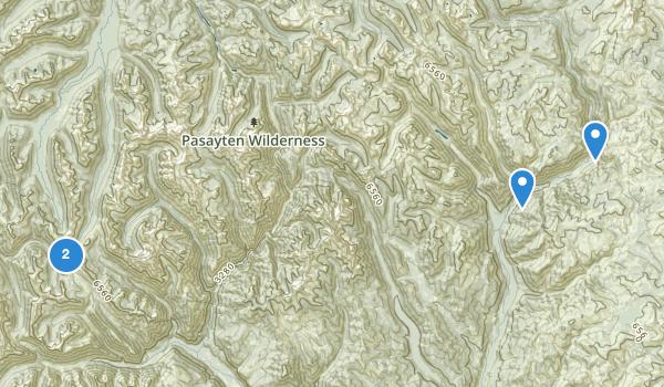Pasayten Wilderness Map