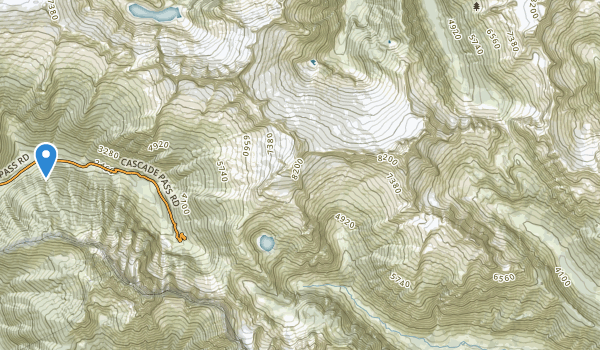 trail locations for Stephen Mather Wilderness