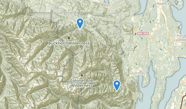 trail locations for Buckhorn Wilderness