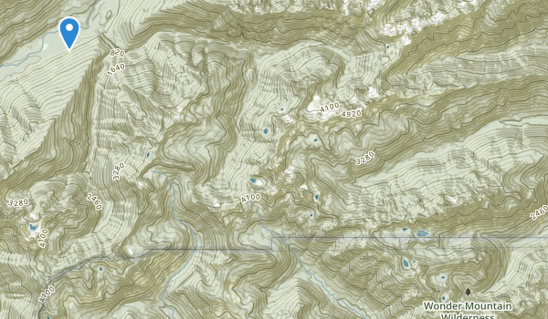 trail locations for Wonder Mountain Wilderness