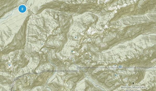 Wonder Mountain Wilderness Map