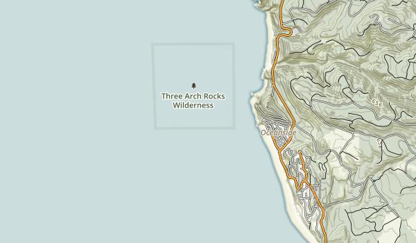 Three Arch Rocks Wilderness Map