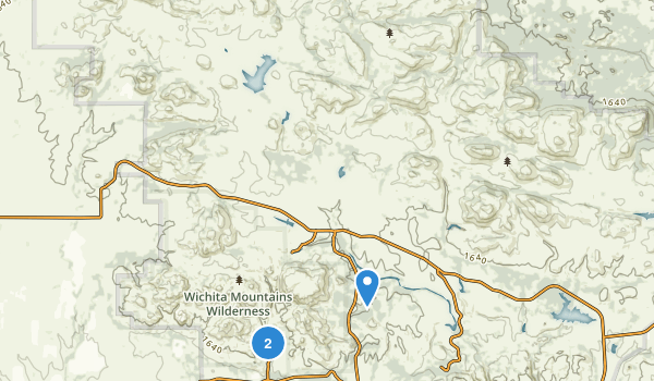 Wichita Mountains Wilderness Map