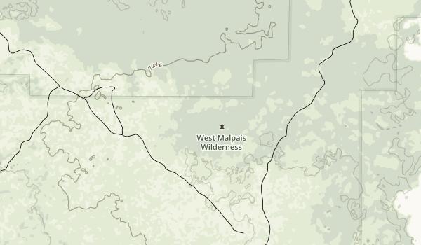 West Malpais Wilderness Map