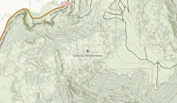 Cebolla Wilderness Map