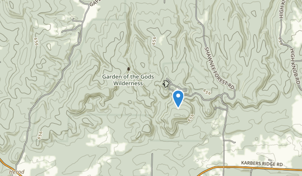trail locations for Garden of the Gods Wilderness