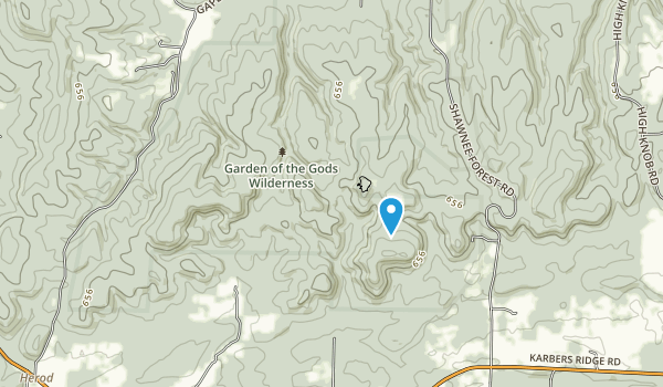 Garden of the Gods Wilderness Map