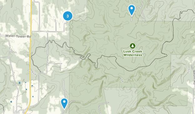 Lusk Creek Wilderness Map