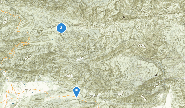 trail locations for Sespe Wilderness