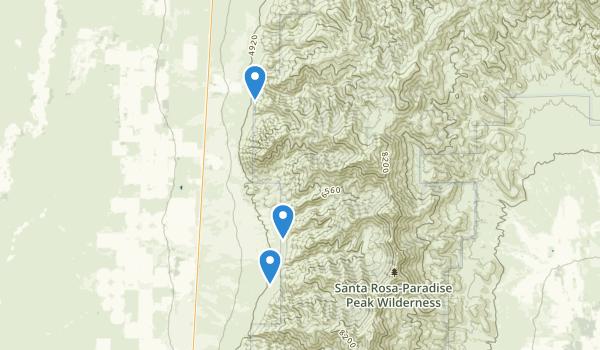Santa Rosa-Paradise Peak Wilderness Map