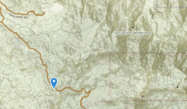 San Jacinto Wilderness Map
