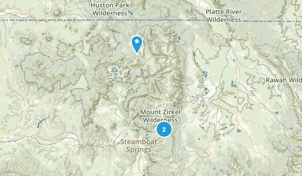 Mount Zirkel Wilderness Map