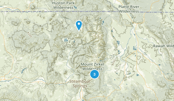 Mount Zirkel Wilderness Map