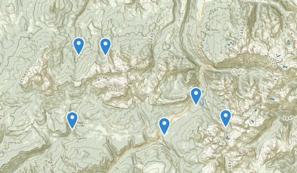trail locations for Lizard Head Wilderness