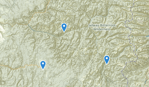 trail locations for Selway-Bitterroot Wilderness