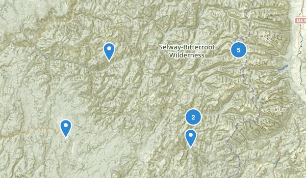 Selway-Bitterroot Wilderness Map