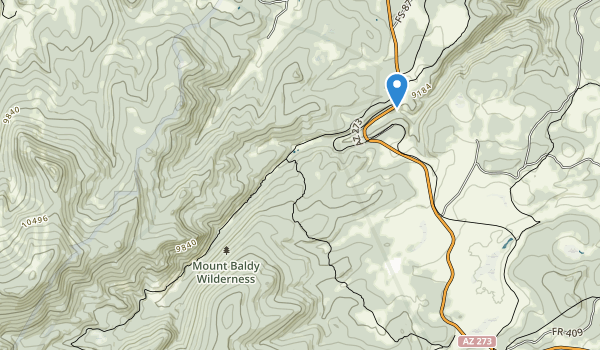 trail locations for Mount Baldy Wilderness