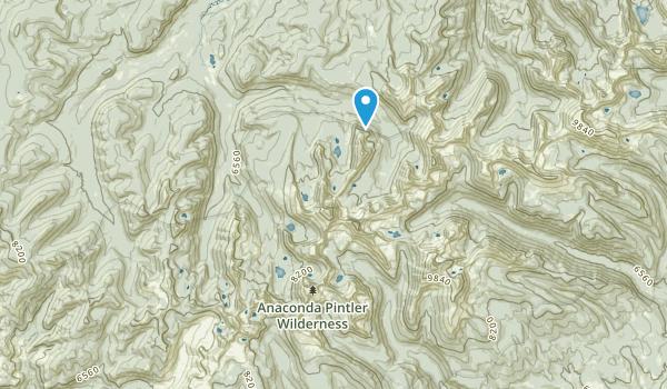 Anaconda Pintler Wilderness Map