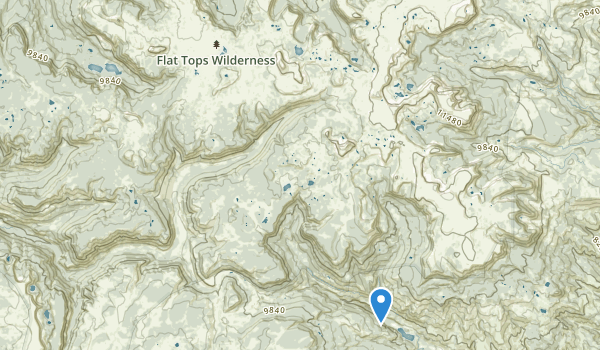 trail locations for Flat Tops Wilderness