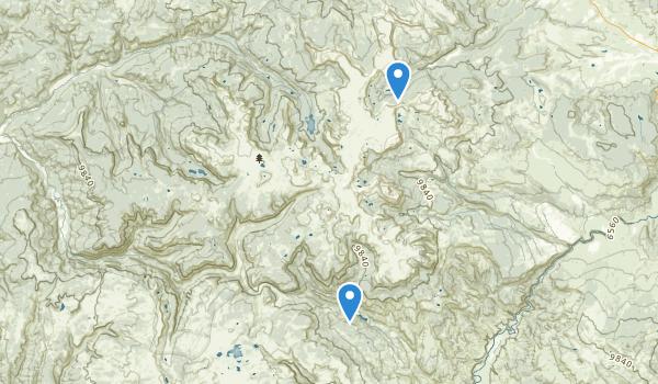 Flat Tops Wilderness Map