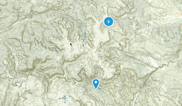 Flat Tops Wilderness Map