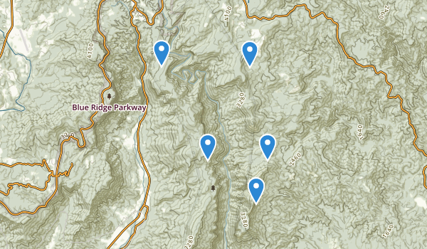 trail locations for Linville Gorge Wilderness