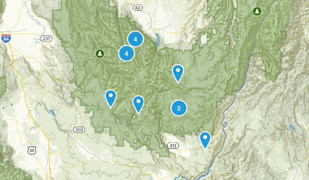 Eagle Cap Wilderness Map