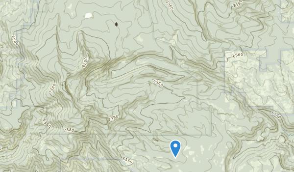 Gearhart Mountain Wilderness Map