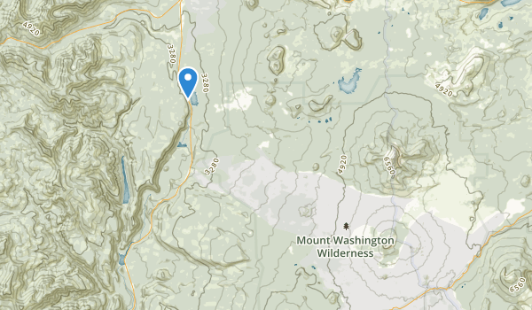 trail locations for Mount Washington Wilderness