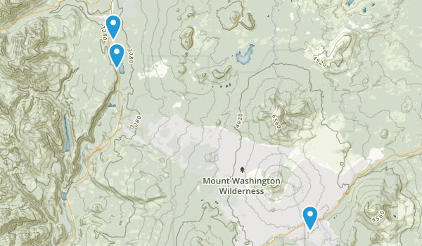 Mount Washington Wilderness Map