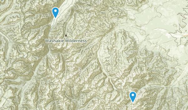 Washakie Wilderness Map