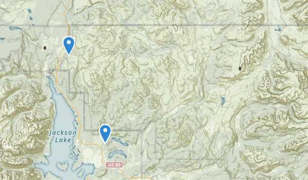 trail locations for Teton Wilderness