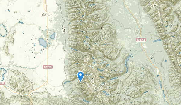 trail locations for Mission Mountains Wilderness
