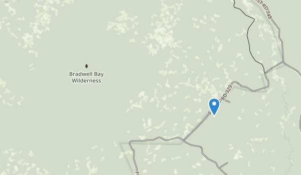 trail locations for Bradwell Bay Wilderness