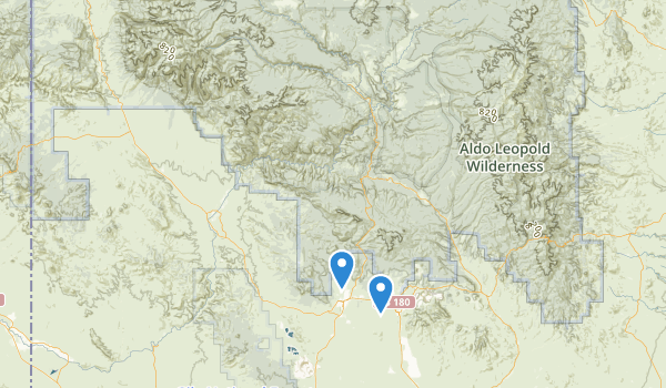 trail locations for Gila Wilderness