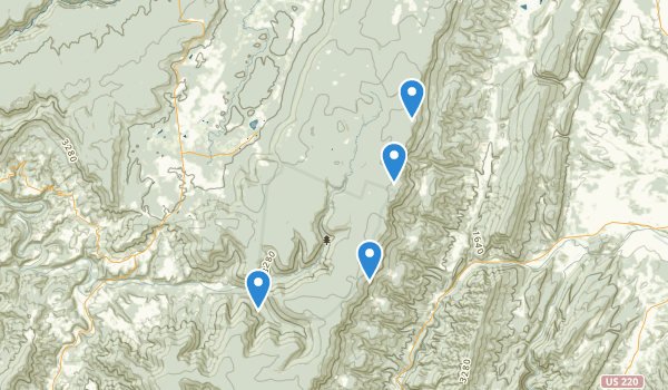 trail locations for Dolly Sods Wilderness