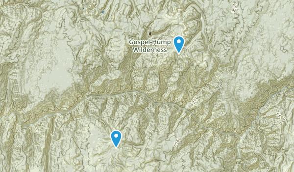 Gospel-Hump Wilderness Map