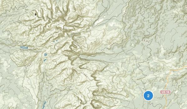 Cloud Peak Wilderness Map