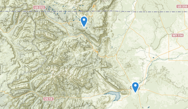 trail locations for North Absaroka Wilderness
