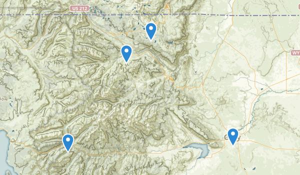 North Absaroka Wilderness Map