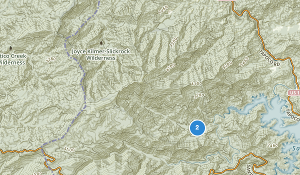 Joyce Kilmer-Slickrock Wilderness Map