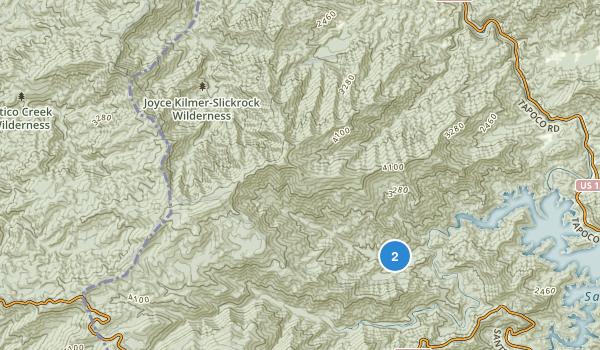 Joyce Kilmer-Slickrock Wilderness Map